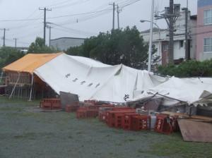 テント被害