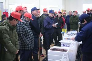 稚内漁協市場の初競り