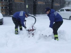 消火栓除雪