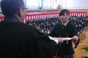 大谷高の卒業式
